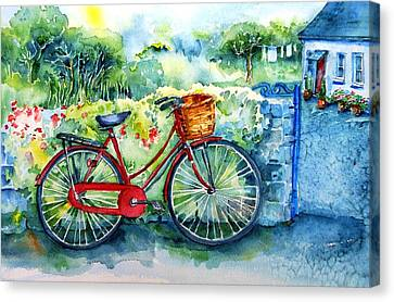 My Red Bicycle Canvas Print
