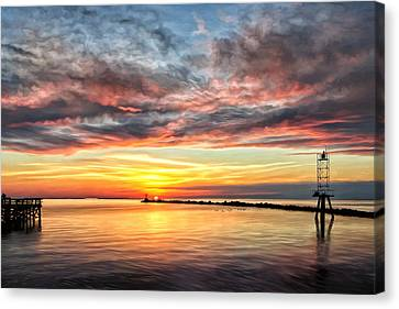 My Return To Cape Charles Virginia Canvas Print by Michael Pickett