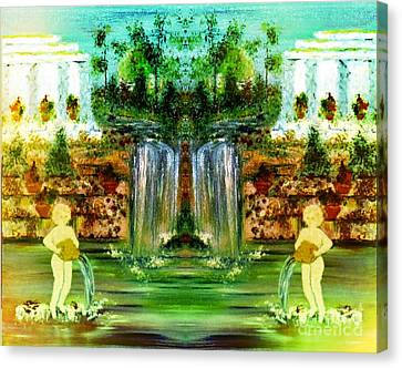 Canvas Print featuring the painting My Rome by Denise Tomasura