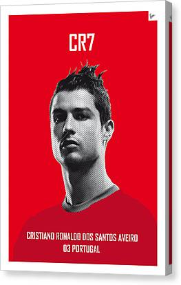 My Ronaldo Soccer Legend Poster Canvas Print