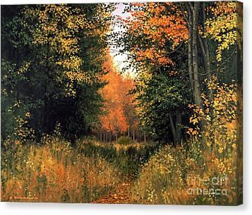 My Secret Autumn Place Canvas Print by Michael Swanson