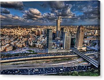 Canvas Print featuring the photograph My Sim City by Ron Shoshani
