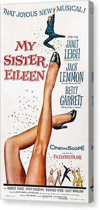 My Sister Eileen, Us Poster Art, 1955 Canvas Print