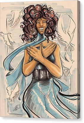 My Soror Canvas Print by Tu-Kwon Thomas