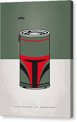 Tomato Canvas Print - My Star Warhols Boba Fett Minimal Can Poster by Chungkong Art