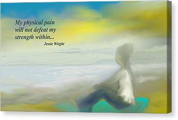My Strength Within Canvas Print by Jessica Wright