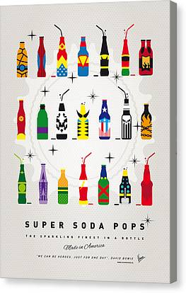 My Super Soda Pops No-00 Canvas Print by Chungkong Art