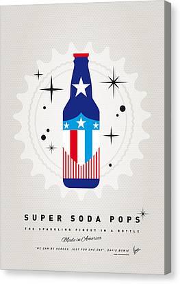 Captain America Canvas Print - My Super Soda Pops No-14 by Chungkong Art
