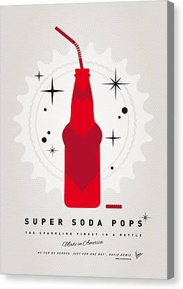 My Super Soda Pops No-23 Canvas Print by Chungkong Art
