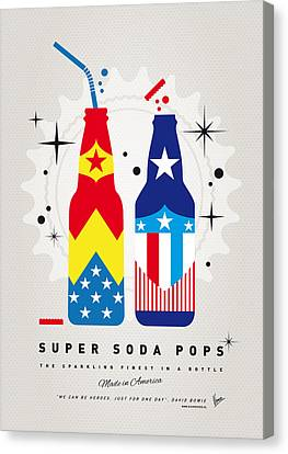 My Super Soda Pops No-24 Canvas Print by Chungkong Art
