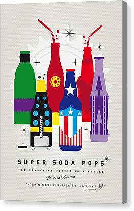Captain America Canvas Print - My Super Soda Pops No-27 by Chungkong Art