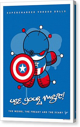 Captain America Canvas Print - My Supercharged Voodoo Dolls Captain America by Chungkong Art