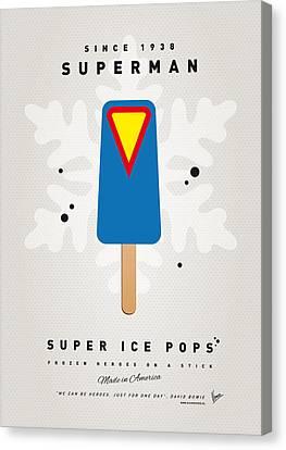 Super Heroes Canvas Print - My Superhero Ice Pop - Superman by Chungkong Art
