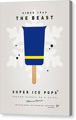 My Superhero Ice Pop - The Beast Canvas Print by Chungkong Art
