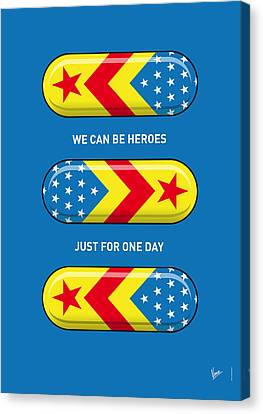 Captain America Canvas Print - My Superhero Pills - Wonder Woman by Chungkong Art