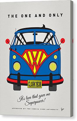 My Superhero-vw-t1-superman Canvas Print by Chungkong Art