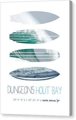 My Surfspots Poster-4-dungeons-cape-town-south-africa Canvas Print