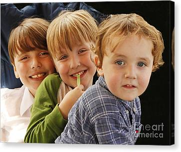 My Three Grandsons Canvas Print