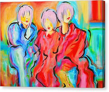 My Three Muses Canvas Print by Susi Franco