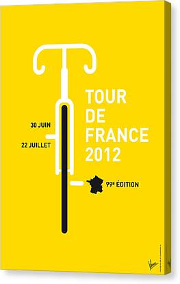 2012 Canvas Print - My Tour De France 2012 Minimal Poster by Chungkong Art