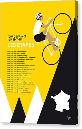 For Canvas Print - My Tour De France Minimal Poster 2014-etapes by Chungkong Art