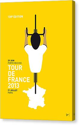 My Tour De France Minimal Poster Canvas Print by Chungkong Art