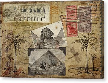 My Trip To Egypt 1914 Canvas Print by Carol Leigh