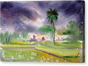 My Village Canvas Print by M Kazmi