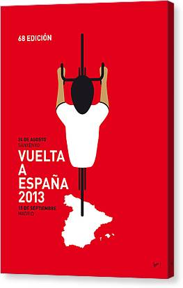 Bicycle Canvas Print - My Vuelta A Espana Minimal Poster - 2013 by Chungkong Art