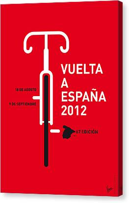 Competition Canvas Print - My Vuelta A Espana Minimal Poster by Chungkong Art