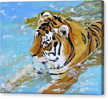 My Water Tiger Canvas Print by Phyllis Kaltenbach