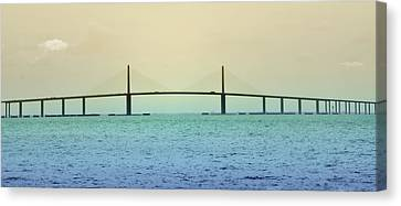 My Way Or The Skyway Canvas Print by Bill Cannon