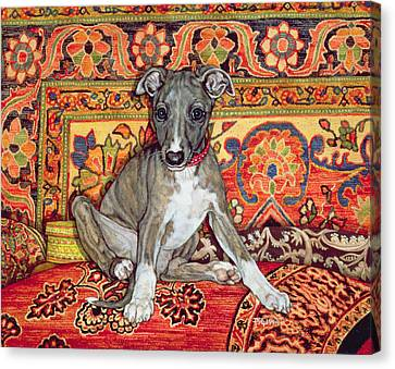 My Whippet Baby Canvas Print