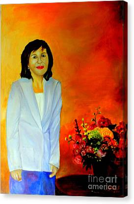 Canvas Print featuring the painting My Wife by Jason Sentuf