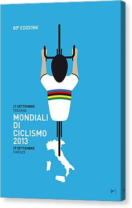 My World Championships Minimal Poster Canvas Print