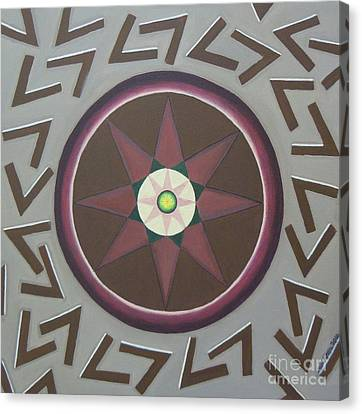 Canvas Print featuring the painting My Yantra by Mini Arora
