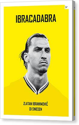 Barcelona Canvas Print - My Zlatan Soccer Legend Poster by Chungkong Art
