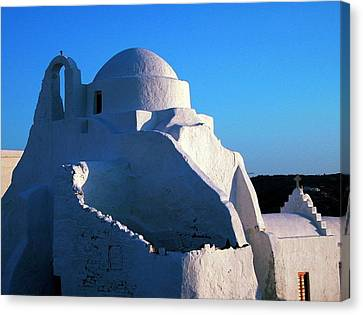 Canvas Print featuring the photograph Mykonos Island Greece by Colette V Hera  Guggenheim
