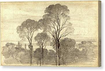 Myles Birket Foster, British 1825-1899 Canvas Print by Litz Collection