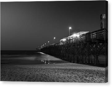 Myrtle Beach 2nd Ave Pier At Night II Canvas Print