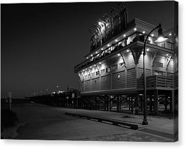 Myrtle Beach 2nd Ave Pier At Night Canvas Print