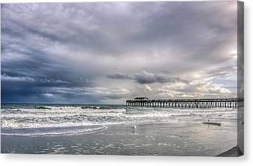 Myrtle Beach Fishing Pier Canvas Print by Rob Sellers