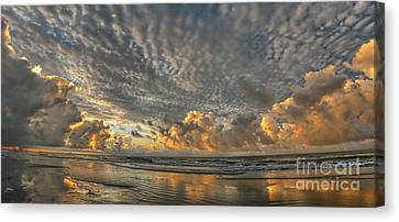 Myrtle Beach Panorama 2 Canvas Print by Jeff Breiman