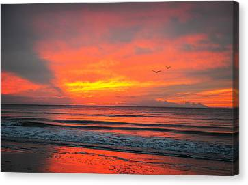 Myrtle Beach Sunrise Canvas Print by Mary Timman