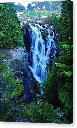 Myrtle Falls Canvas Print by Jeff Swan