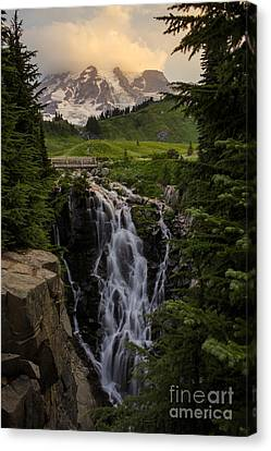 Myrtle Falls Morning Light Canvas Print