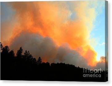 Canvas Print featuring the photograph Myrtle Fire Near Rifle Pit Road by Bill Gabbert