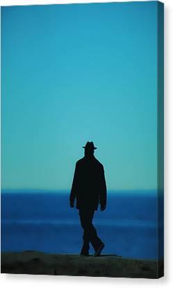 Mysterious Man Canvas Print by Karol Livote