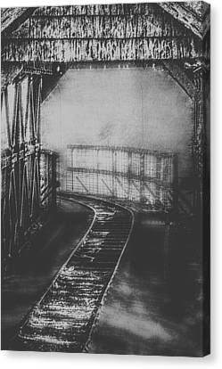 Mysterious Train Tracks Canvas Print by Melanie Lankford Photography