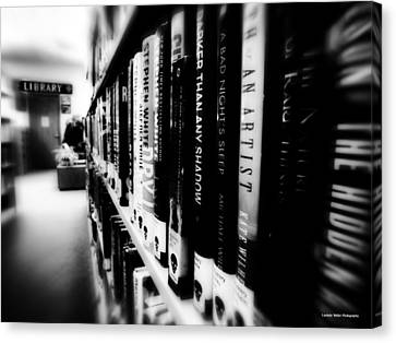 Canvas Print featuring the photograph Mystery At The Library by Lucinda Walter
